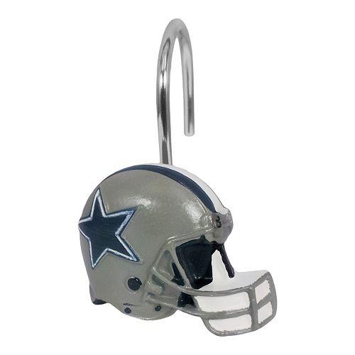 Dallas Cowboys 12 Pack Shower Curtain Hooks