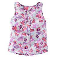 Girls 4-6x OshKosh B'gosh® Floral Henley Tank