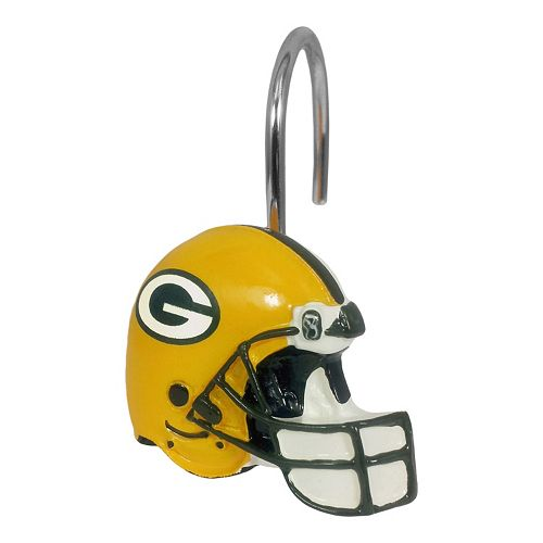 Green Bay Packers 12 Pack Shower Curtain Hooks