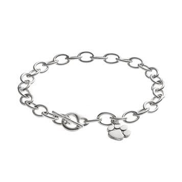 Dayna U Clemson Tigers Sterling Silver Toggle Bracelet
