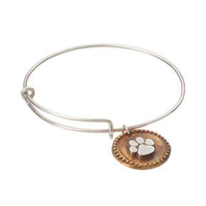 Dayna U Sterling Silver Clemson Tigers Antiqued Coin Bangle Bracelet