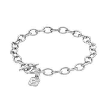 Dayna U North Carolina State Wolfpack Sterling Silver Toggle Bracelet