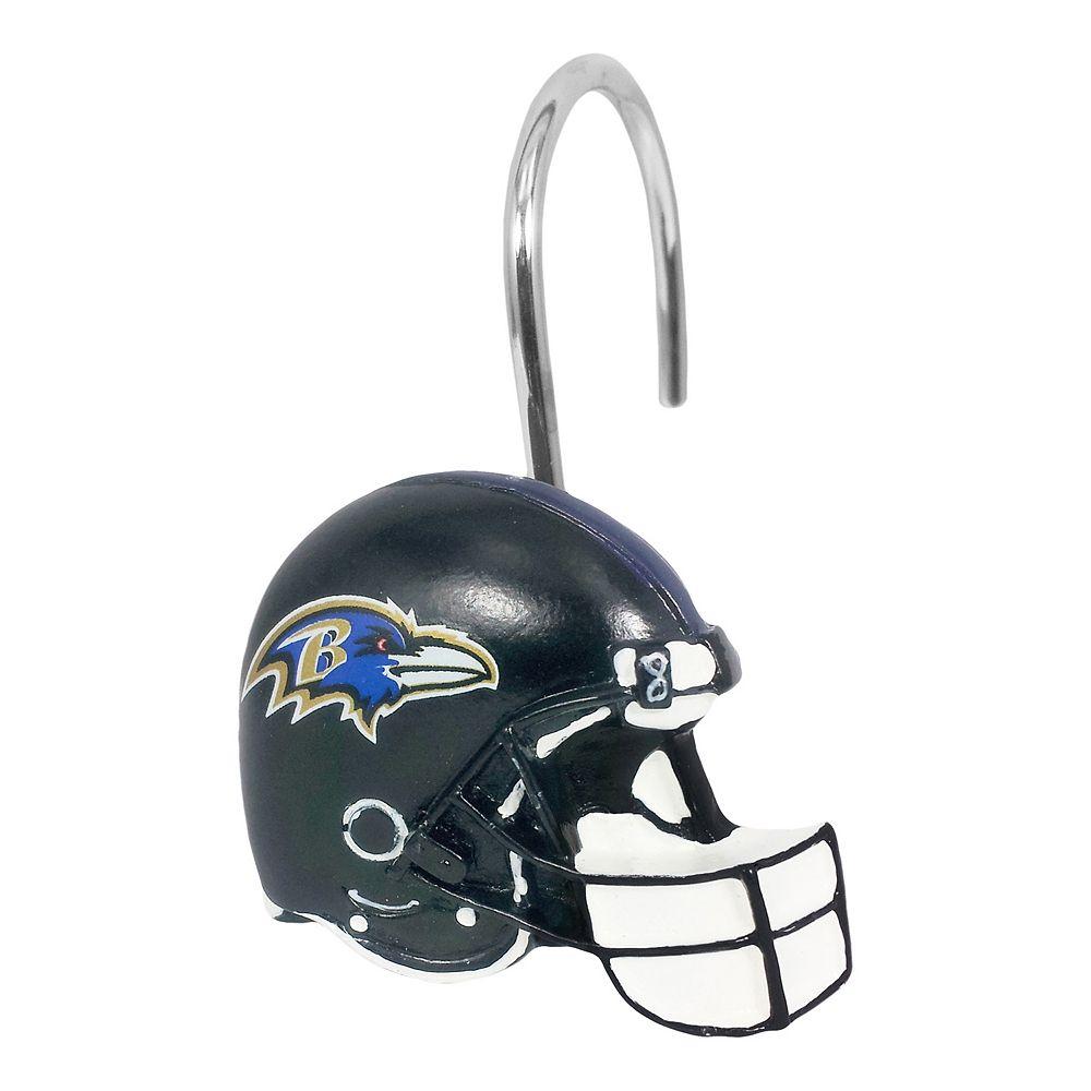 Baltimore Ravens 12 Pack Shower Curtain Hooks