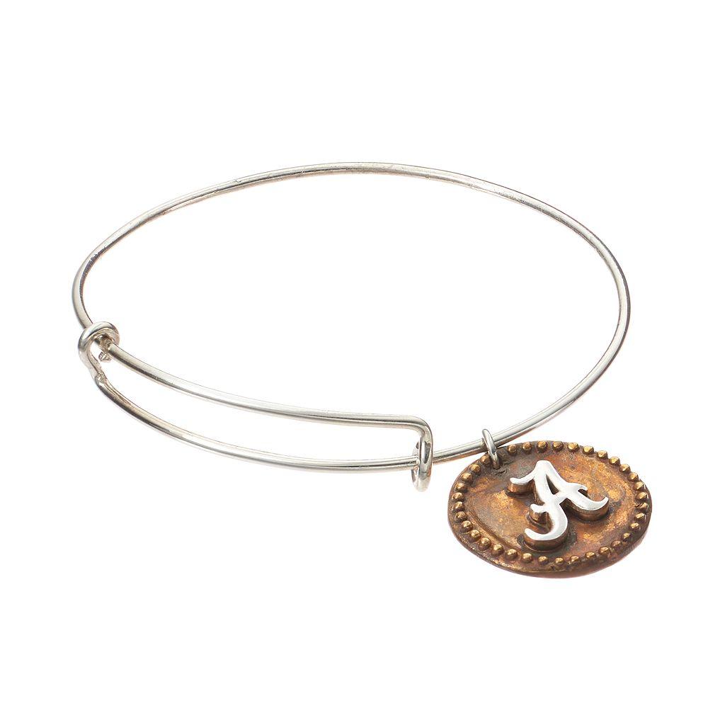 Dayna U Sterling Silver Alabama Crimson Tide Antiqued Coin Bangle Bracelet