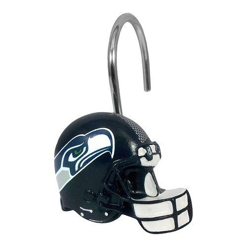 Seattle Seahawks 12 Pack Shower Curtain Hooks
