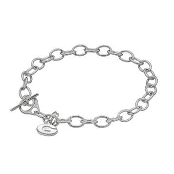 Dayna USterling Silver Georgia Bulldogs Charm Toggle Bracelet