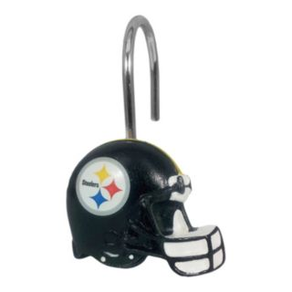 Pittsburgh Steelers 12-Pack Shower Curtain Hooks