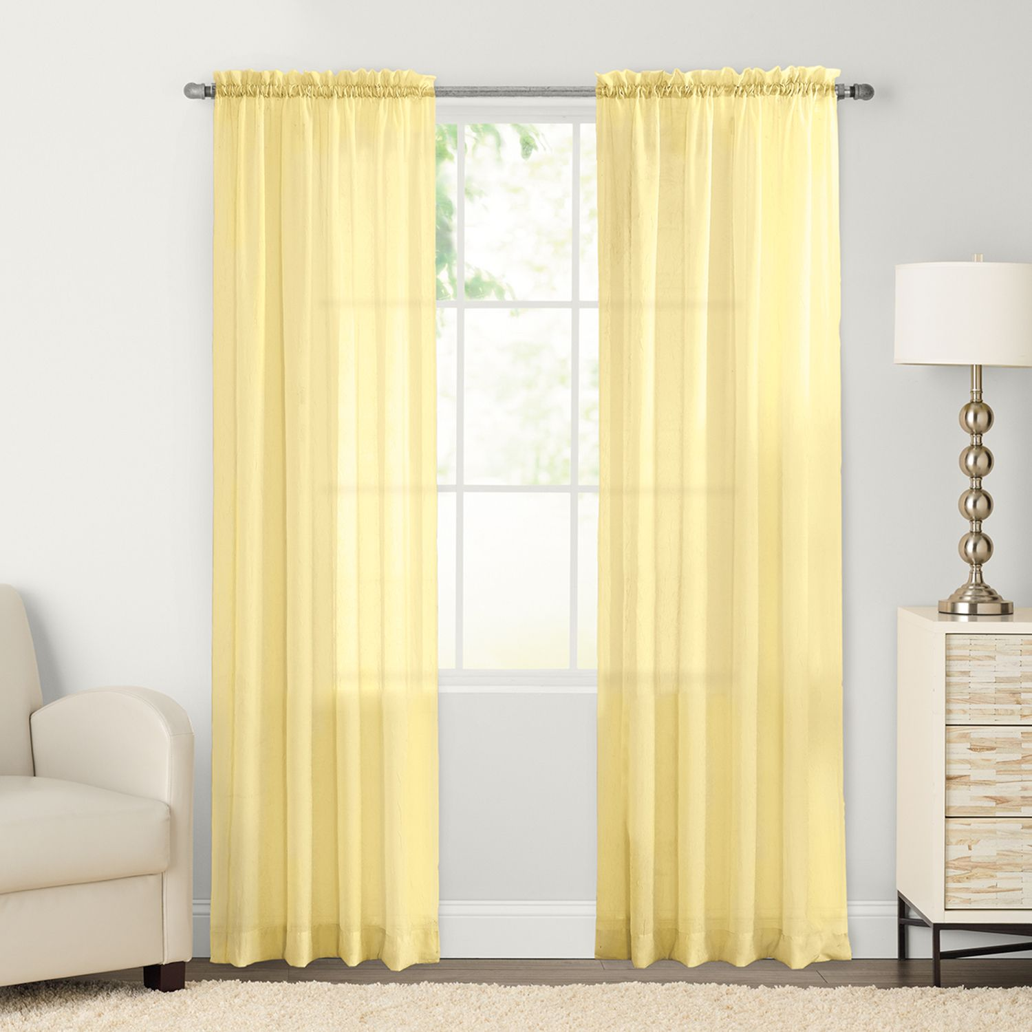 Solid Yellow Curtains Walmart Yellow Shower Curtains