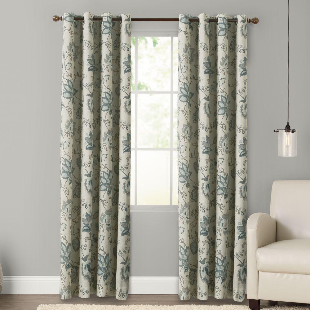 goods for life™ kirya floral blackout curtain