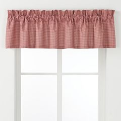 Ellis Curtains Logan Check Window Valance - 70'' x 12''