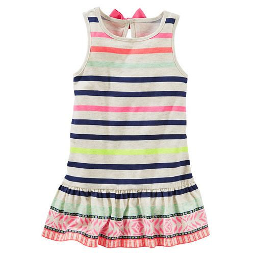 f6600f24cffc Girls 4-6x OshKosh B gosh® Striped Peplum Tunic Tank