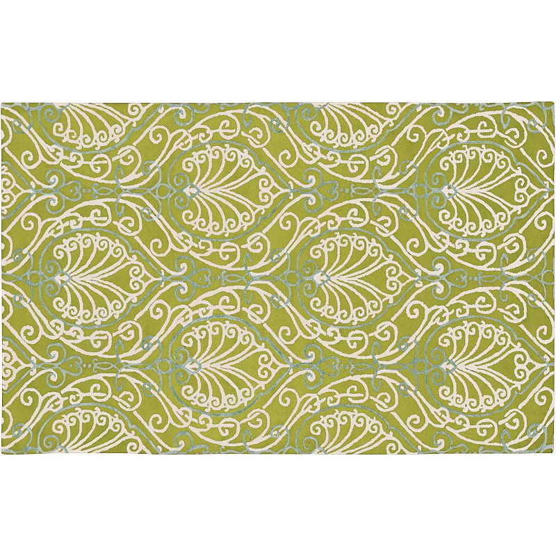 Decor 140 Modern Classics Scroll Wool Rug, Green, 3X5 Ft Product Image