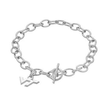 Dayna USterling Silver Virginia Tech Hokies Charm Toggle Bracelet