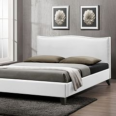 Baxton Studio Battersby Upholstered Headboard Modern Bed