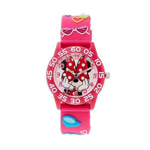 Disney's Minnie Mouse Girls' Time Teacher Watch pantip