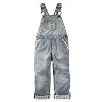 Toddler Girl OshKosh B'gosh® Floral-Lined Overalls