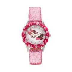 Disney's Minnie Mouse Girls' Leather Watch