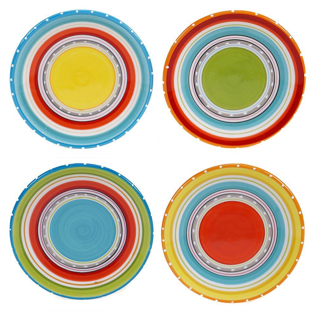 Certified International Mariachi 4-pc. Canape Plate Set
