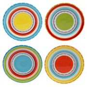 Certified International Mariachi 4 pc Canape Plate Set