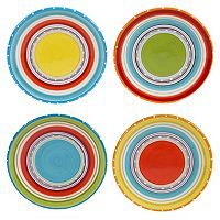 Certified International Mariachi 4-pc. Canape Plate Set