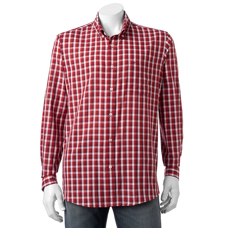 Men's Dockers Classic-Fit Plaid Brushed Twill No-Wrinkle Button-Down Shirt