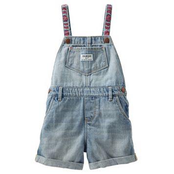 Toddler Girl OshKosh B'gosh® Embroidered Shortalls