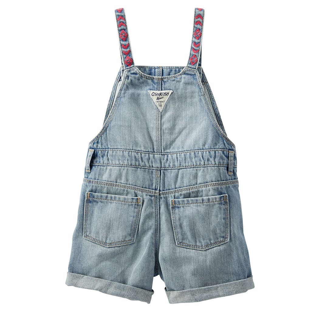 Toddler Girl OshKosh B'gosh® Embroidered Shortalls