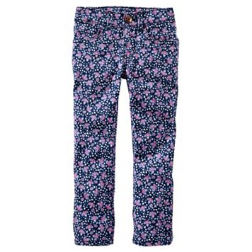 Toddler Girl OshKosh B'gosh® Floral Skinny Twill Pants