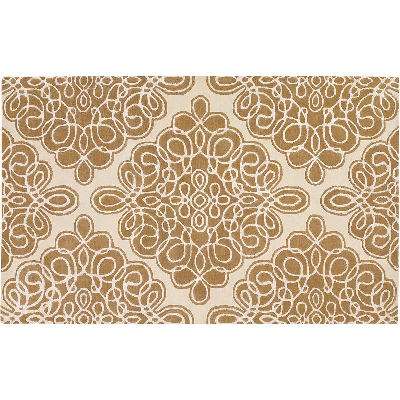 Decor 140 Modern Classics Wool Rug, Beig/Green, 2.5X8 Ft