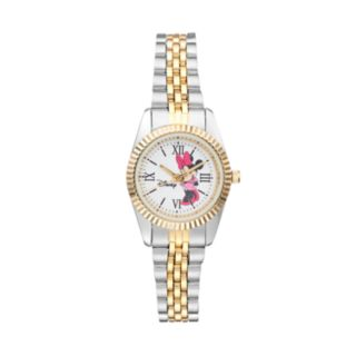 Disney's Minnie Mouse Women's Two Tone Stainless Steel Watch