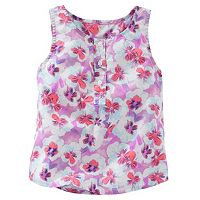 Toddler Girl OshKosh B'gosh® Floral Henley Tank