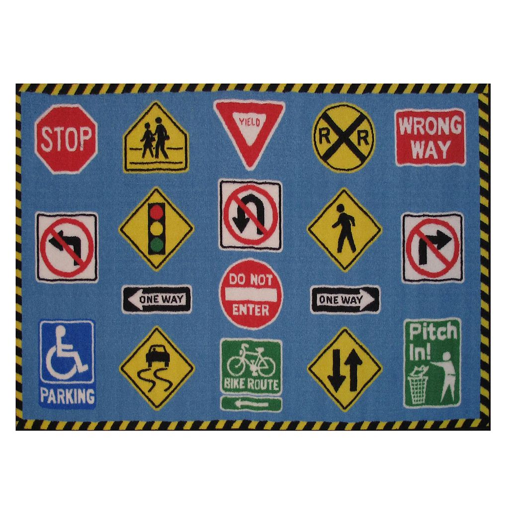 Fun Rugs Fun Time Traffic Signs Rug