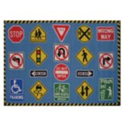 Fun Rugs Fun Time Traffic Signs Rug