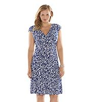 Plus Size Chaps Printed Empire Dress