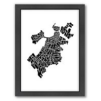 Americanflat Joe Brewton Boston, Massachusetts Typography Framed Wall Art