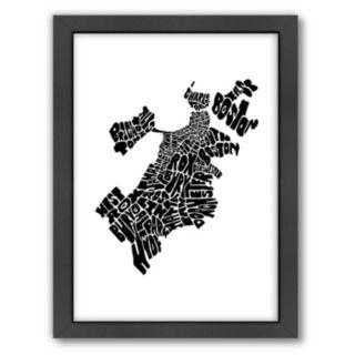 Americanflat Joe Brewton Boston, Massachusetts Typography Framed Wall Art