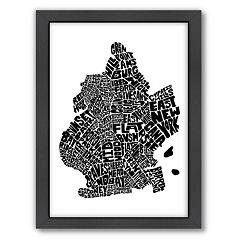 Americanflat Joe Brewton Brooklyn Typography Framed Wall Art