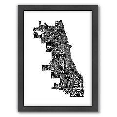 Americanflat Joe Brewton Chicago Typography Framed Wall Art