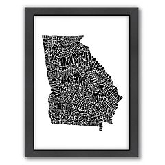 Americanflat Joe Brewton Georgia Typography Framed Wall Art