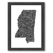 Americanflat Joe Brewton Mississippi Typography Framed Wall Art