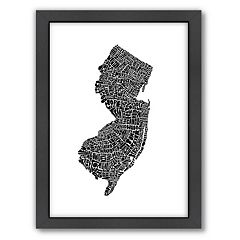 Americanflat Joe Brewton New Jersey Typography Framed Wall Art