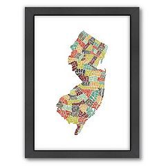 Americanflat Joe Brewton New Jersey Typography Framed Wall Art