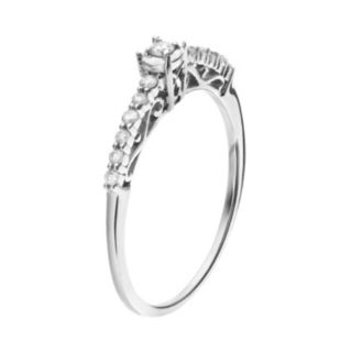 Sterling Silver 1/6 Carat T.W. Diamond Promise Ring