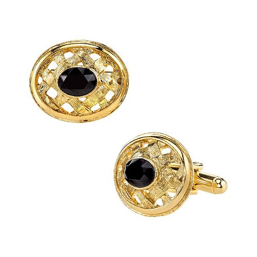 1928 Woven Oval Cuff Links