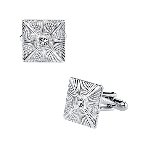 1928 Textured Square Cuff Links
