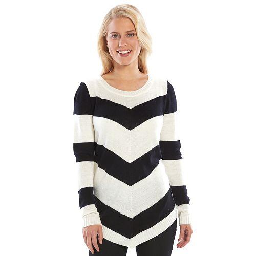 f1865856d3a Women s AB Studio Mitered-Stripe Scoopneck Sweater