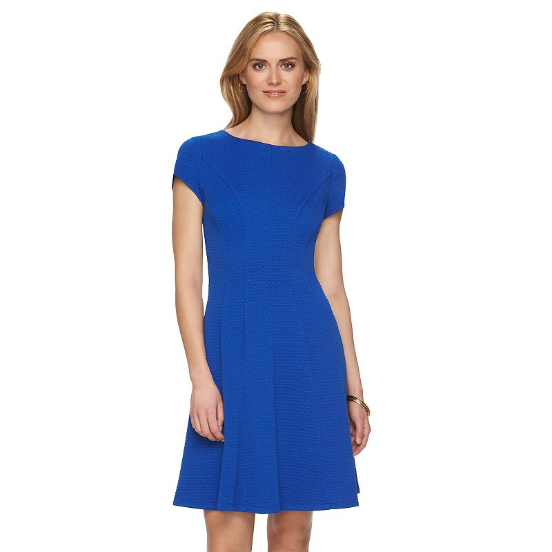 Women's Chaps Jacquard Fit & Flare Dress