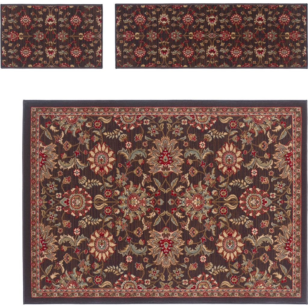 KHL Rugs 3-pc. Traditional Laguna Floral Rug