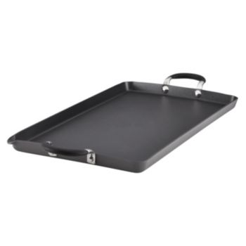 "Circulon Momentum 18"" x 10"" Hard-Anodized Nonstick Double Burner Griddle"
