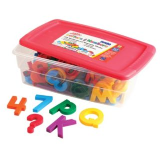 Educational Insights Jumbo Multicolored Alpha & Math Magnets